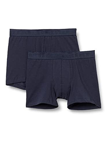 Schiesser Jungen Unterwäsche Boxershorts 2er Pack - 95/5 Organic Cotton, blau, 164 (2er Pack)