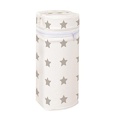 Asmi Thermobox Warmhaltebox Sterne Grau für Standart und Weithalsflasche