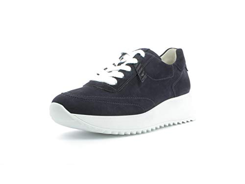 Paul Green Damen Sneaker 4946, Frauen Low-Top Sneaker, Halbschuh strassenschuh schnürer schnürschuh sportschuh Plateau-Sohle,BLAU,40.5 EU / 7 UK