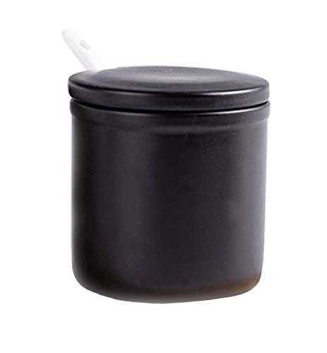 FUYU Matte Simple Ceramic Sugar Bowl Seasoning Box...