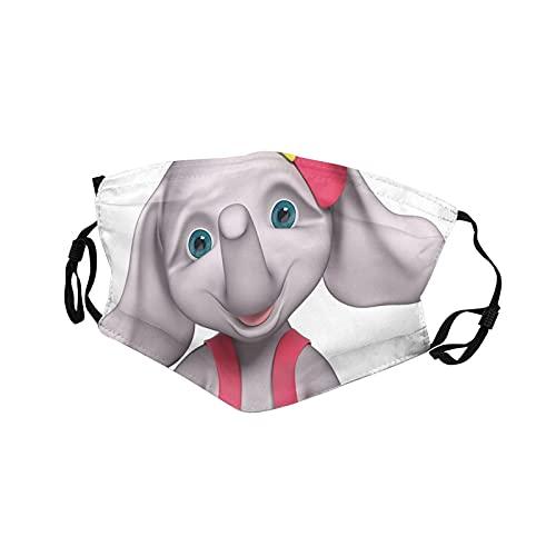 2 unids Niños Mascarilla Alegre Bebé Niña Sonriente Elefante 3d Dibujos Animados Estilo Impresión 16x11cm
