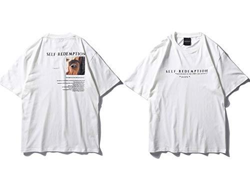 GVDFSEYL Zelf Patchwork Gedrukt T-shirt Hip Hop Korte Mouw Streetwear Tops Tees Mode Skateboards Tshirts