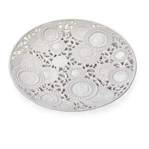 Centro de mesa de porcelana blanca 'KYOTO' diám. 43 D17655