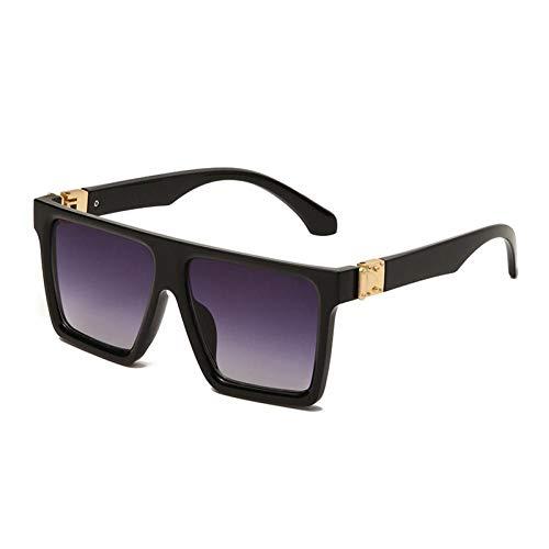 ZZOW Ins Gafas De Sol Cuadradas De Moda Populares para Mujer, Diseñador De Marca De Lujo, Gafas con Espejo Gradiente, Gafas De Sol para Hombre, Sombras Uv400