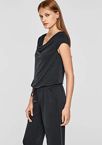 s.Oliver BLACK LABEL Damen Jumpsuit, Schwarz - 4