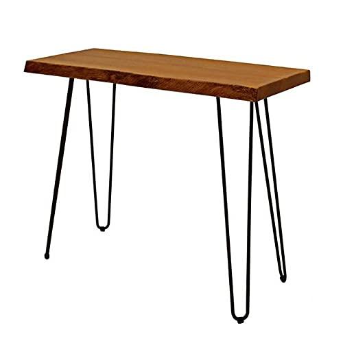 LIANG Mesa de consola, mesa auxiliar de madera con espacio de almacenamiento, sofá estrecho, escritorio para sala de estar, dormitorio, entrada (color: 01)