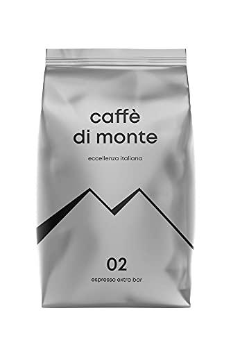 CAFFÈ DI MONTE® Espresso Extra Bar (1kg) Ganze Espressobohnen - Ideal Für Siebträger & Kaffeevollautomaten - Dunkle Röstung Nach Italienischer Art, Schokoladig & Nussig, Säurearm