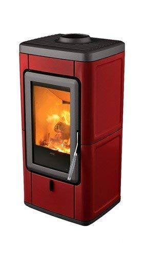 MCZ VELD raumluftunabhängiger Kaminofen 7 kW Holzofen Kamin Ofen Veld-7-Bordeauxrot