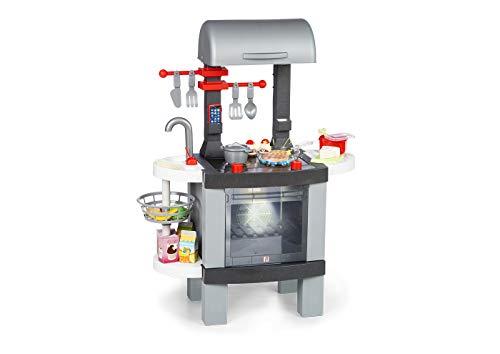 Chicos Cooking BBQ 2en1 Barbacoa Infantil con Efecto de Cocina Real: Los Alimentos cambian de Color Cuando se cocinan en el fogón LED. Incluye 25 Accesorios. (La Fábrica de Juguetes 85100)