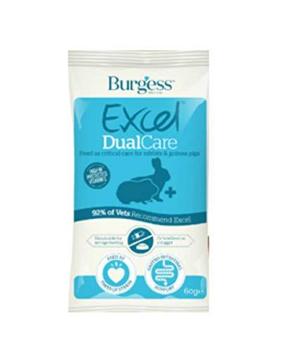 Burgess Excel DualCare alimento per Conigli e Piccoli erbivori Malati o convalescenti Crocchette riabilitative per roditori 60g