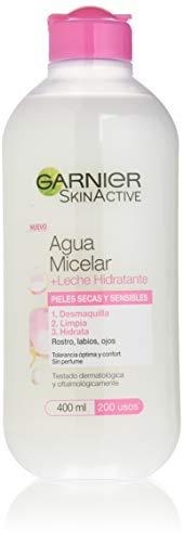 Garnier Skinactive Agua Micelar + Leche Hidratante Lote 2 X 400 Ml 800 ml