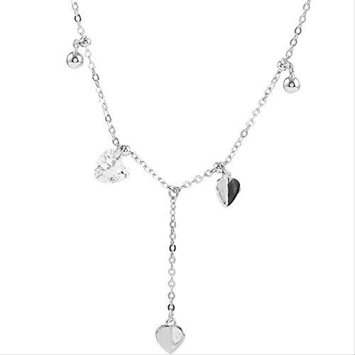 ZHUDJ Collar de Plata esterlina 925, Collar Redondo de circonita Brillante, Fecha de Mujer, Regalo de Boda, joyería de cumpleaños para mamá