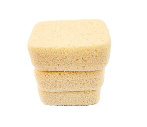 Michelle's Melting Pot Foam Bath Sponge Shower Sponge 3 Count (Smooth Yellow)