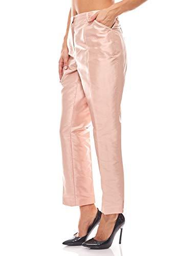 Singh s. Madan Elegante Seiden-Hose Business Hose Kurzgröße Rosa, Größenauswahl:21