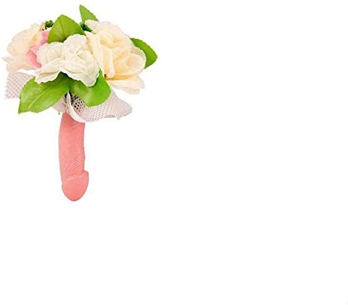 Dream' s Party Bouquet Sposa con Manico Pene e Fiori per Addio al Nubilato - Gadget Idea scherzi Regalo di Matrimonio