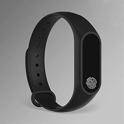 Orologio intelligente per bambini con braccialetto fitness impermeabile, con promemoria Bluetooth, adatto per ragazzi e ragazze, compatibile con iOS Android-nero