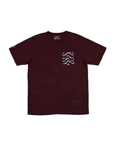 Kimoa Jacquard Camiseta, Unisex, Granate, L