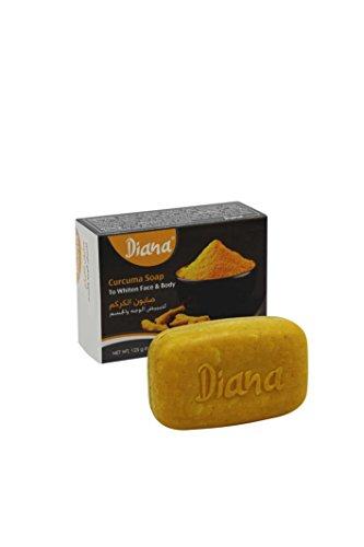 Diana TURMERIC (Curcuma) Face & Body Skin Whitening Soap 125g BY ELYSEESTAR by Diana