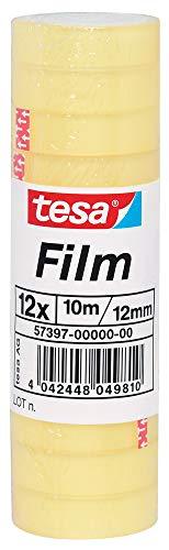 Tesafilm Standard Klebeband, große Rollen, 12 Rollen