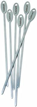 Set of 6 Cuisinart CSKS-166 Stainless Steel Metallic Skewers