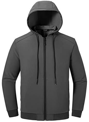 Wantdo Men's Hooded Fleece Sweatshirts US Medium Grey