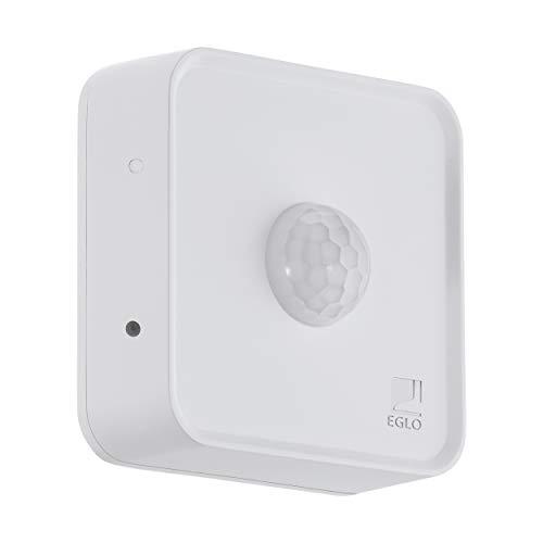 EGLO connect Sensor, Smart Home Bewegungsmelder, batteriebetrieben, Bluetooth Zubehör für EGLO connect System, Material: Kunststoff, Farbe: Weiß, IP44