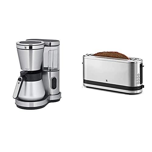 WMF Lono Aroma Kaffeemaschine (800 W, mit Thermoskanne, Filterkaffee, 8 Tassen) & Küchenminis Toaster Langschlitz mit Brötchenaufsatz, 2 Scheiben, XXL, 7 Bräunungsstufen, 900W, Toaster edelstahl matt