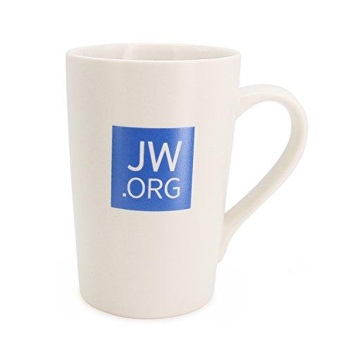 TONOS JW.org Mug Elegant Ceramic Mug -Great Present for Jehovah's Witnesses White Mug with JW.ORG Logo- 12 Ounce