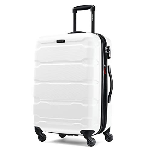 Samsonite Omni Expandable Hardside Carry On Luggage with Spinner Wheels, 24-Inch, White