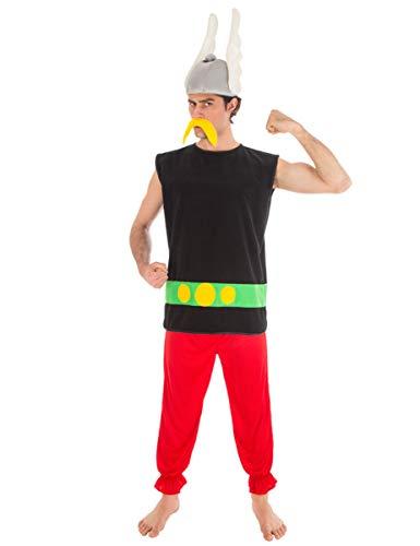 COOLMP Déguisement Astérix Adulte - Taille XL - Déguisement pour Adulte, Costume, soirée déguisée, Carnaval, Nouvel an, Anniversaire