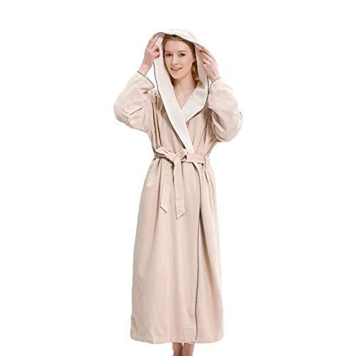 LMCLJJ Frauen-Roben Frauen-Pyjama-Sets doppelschichtig mit Kapuze Dicke warme...