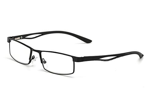 Voller Rahmen Halber Rahmen Read Optics Lesebrille ,Gläser in Hoher Qualität, Dioptrien von +1,00 bis +4,00 dpt.für Herren/Damen(Schwarz)+3.0