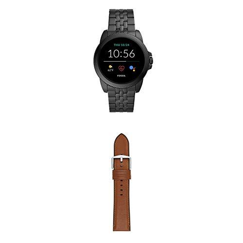 Montre Intelligente à écran Tactile Fossil pour Hommes 5E Génération avec Haut-Parleur, fréquence Cardiaque, Notifications GPS, NFC et Smartphone + Bracelet de Montre Fossil S221300