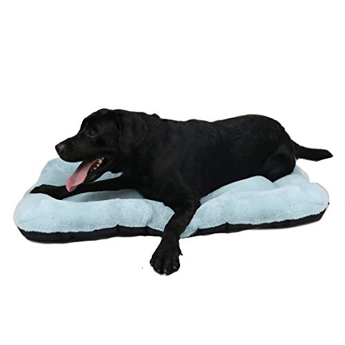 """WZ PET Dog Bed Mat Crate Pad,Soft Dog Crate Bed Cushion Anti-Slip,Washable Mattress 31""""/36""""/40"""" Pet Kennel Pad for XL Medium Large Dogs and Cats,Blue Purple Bed Mats"""