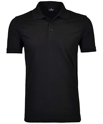 Ragman Kurzarm Herren Poloshirt Soft Knit Piqe' wash and go CO542091 009 *, Größe:XL, Farbe:009-schwarz