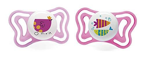 Chicco PhysioForma Succhietto Light 16-36 Mesi, Ciuccio con Tettarella in Silicone, Supporta la Respirazione Fisiologica e Favorisce il Corretto Sviluppo della Bocca, Rosa in Colori Assortiti