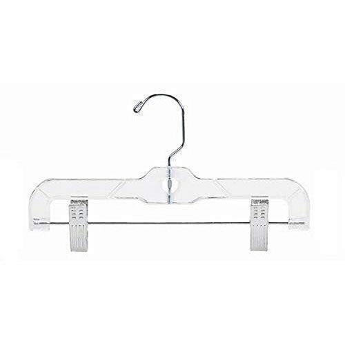 Only Hangers Childrens Clear Plastic PantSkirt Hanger-10 25