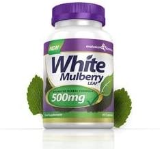 White Mulberry Leaf Extract 500mg 60 Capsules Evolution Slimming Estimated Price : £ 29,99