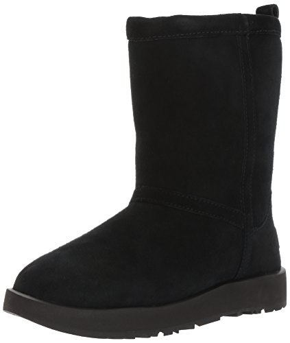 UGG Women's Classic Short Waterproof Snow Boot, Black, 8 M US