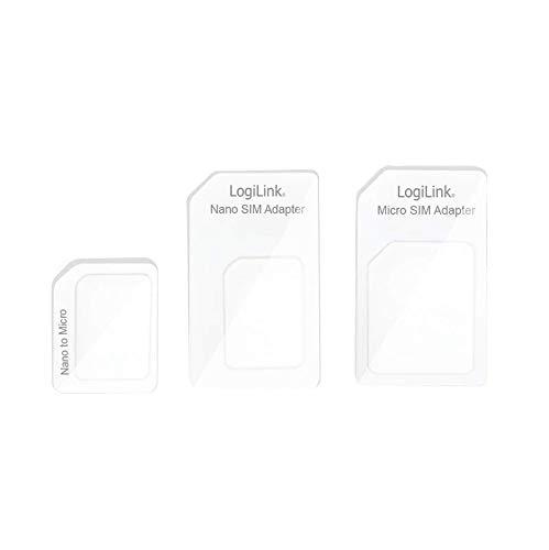 LogiLink AA0047 Dual Sim-Karten Adapter für Micro SIM und Nano SIM