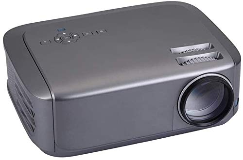 Projector helderheid HD 1080p LCD-projector 1280x768dpi 3500 Lumens LED Beamer Home Mini Theater HDMI USB AV VGA (Kleur: Zwart + wit, Maat: Een maat) dljyy (Color : Grey, Size : One Size)