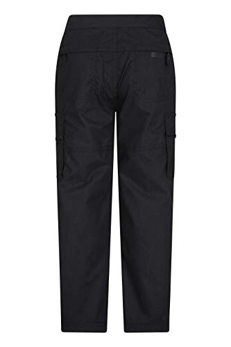 Mountain Warehouse Active Kids Trousers - Lightweight Childrens Trousers, Fast Drying All Season Pants, Shrink & Fade Resistant Casual Bottoms - for Travelling, Camping Black 11-12 Years