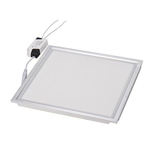 LED Deckenleuchte Panel 12W LED Deckenlampe 30 x 30cm LED Einlegeleuchte 1000LM, Rasterleuchte, Einbauleuchte, Odenwalddecke, LED Panel Einbau für Büro,Küche Flure, Messehallen (Warmweiß 3000K)