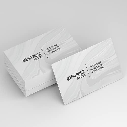 Biglietto da Visita | F.to 8,5x5,5cm | 100 pz | Personalizzato su Cartoncino Stampa a Colori solo...