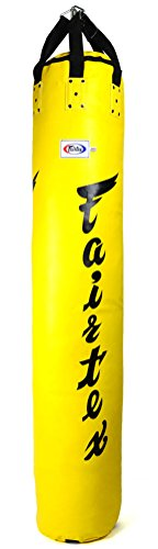 Fairtex HB6 Muaythai Bananenbeutel, 1,8 m, ungefüllt, Gelb
