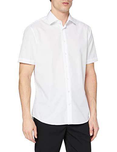 Seidensticker Herren Business Hemd, Weiß (Weiss 1), 43