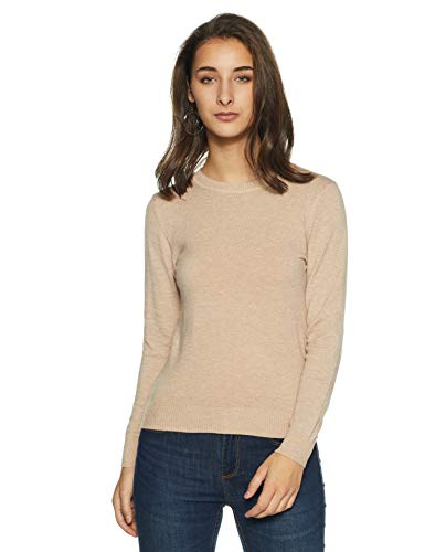Qube By Fort Collins Women's Sweater (CH101_Apricot_XXL)
