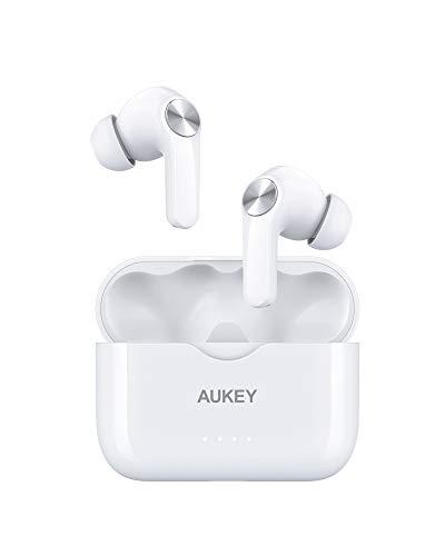 AUKEY Bluetooth Kopfhörer Kabellos In Ear mit Kräftigem Bass, USB-C Quick Charge, IPX5 Wasserdicht, Integriertem Mikrofon, Sport Ohrhörer, 25 Std. Laufzeit, Bluetooth 5