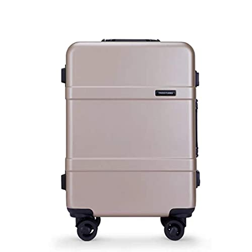 Maleta de Viaje Caja de candado con Carrito de Equipaje de Rueda Universal (Color: Dorado, Tamaño: 22)