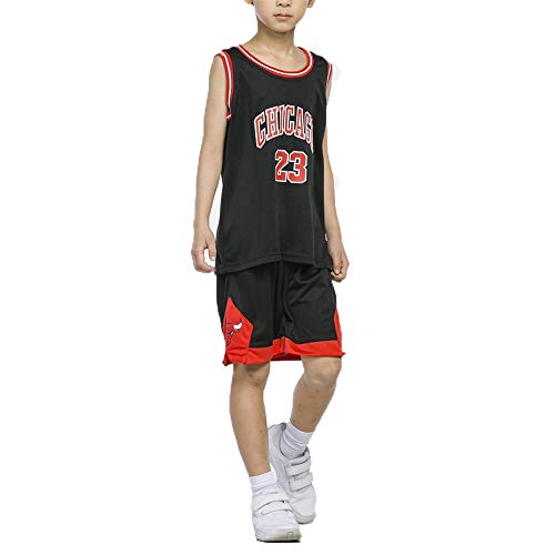 ULIIM Kinder Michael Jordan Basketball Trikots Set-Bulls Jordan # 23 Basketball Shirt Weste Top Sommer Shorts Anzug Für Jungen Und Mädchen